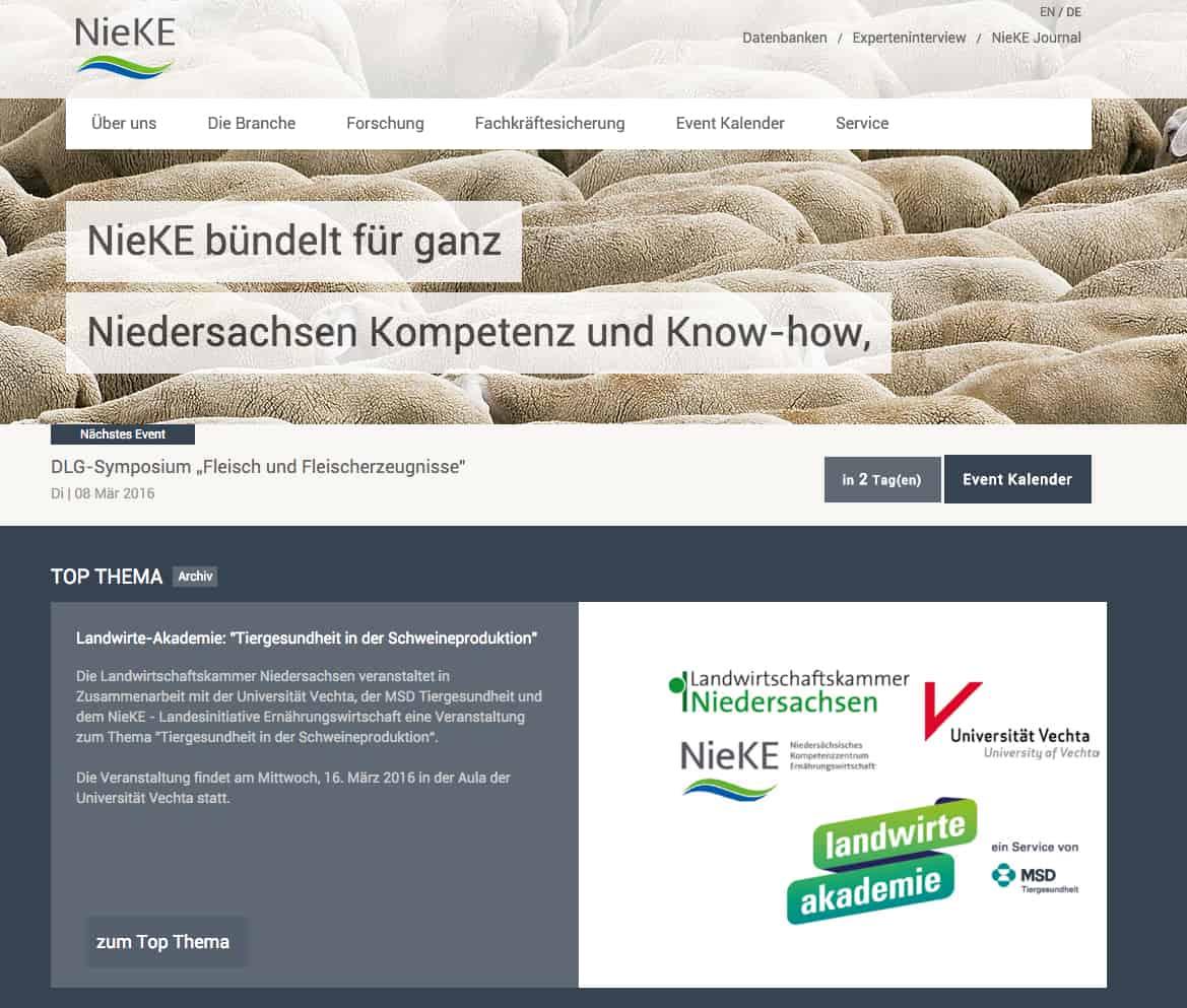 NieKE-Niedersächsisches Kompetenzzentrum Ernährungswirtschaft